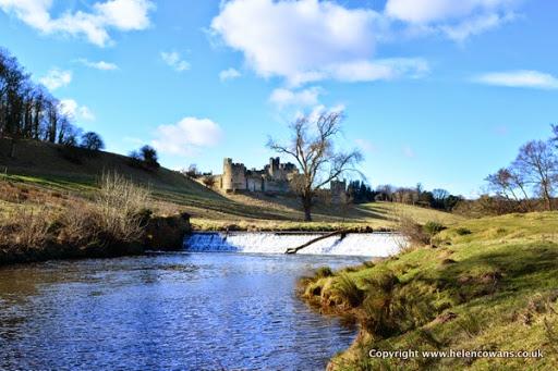 Alwnick castle weir
