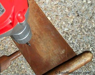drilling a chair for knobs