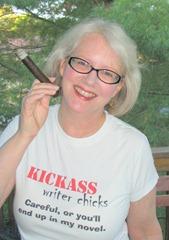 Linda Grimes -- cigar pic