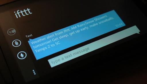 Text alert from IFTTT