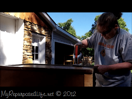damged desk cut apart