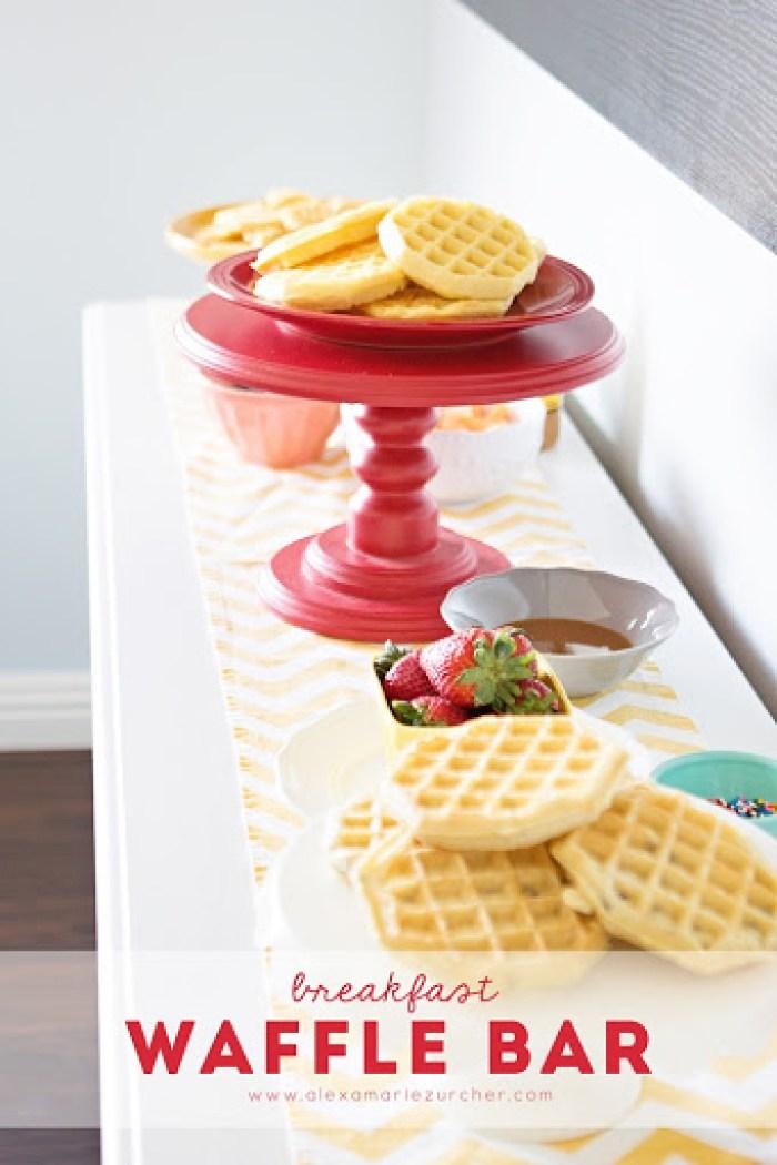 breakfast waffle bar with eggo