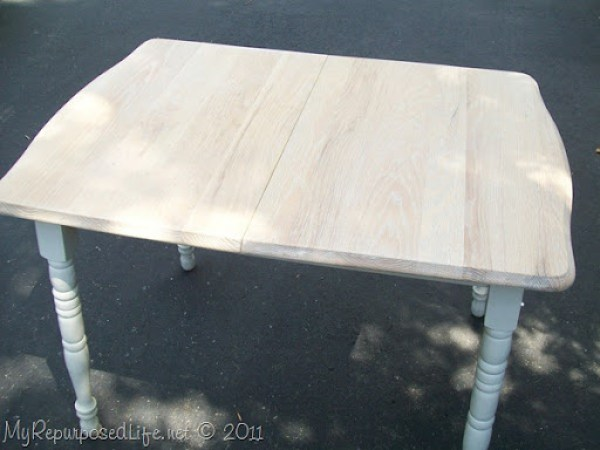 I sanded down the table top