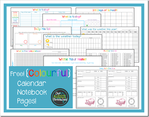 Calendar Notebook 2017-18 | Our Aussie Homeschool