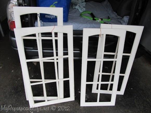 paned cabinet doors