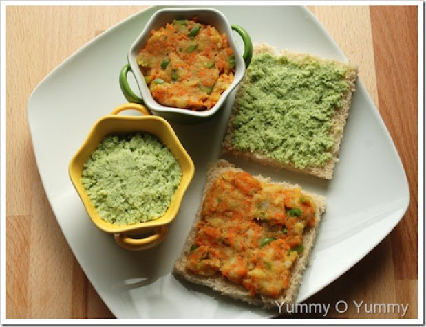 Vegetable and Mint Sandwich
