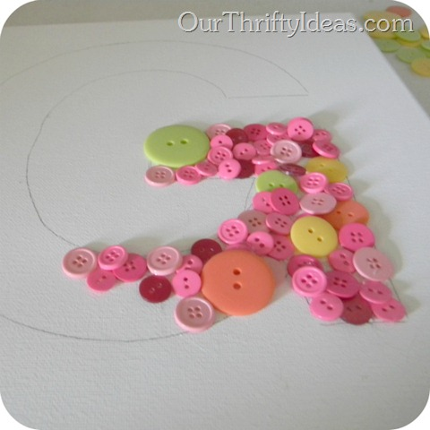 Button Letter on Canvas 3