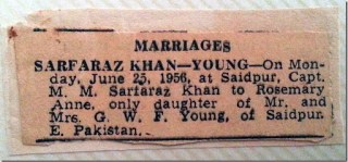 marriage newspaper cutting