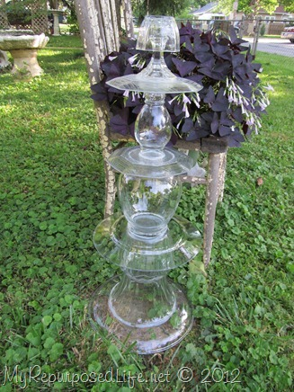 glass topiary for the garden