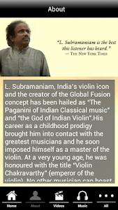 Indian violin Dr.L.Subramaniam screenshot 1