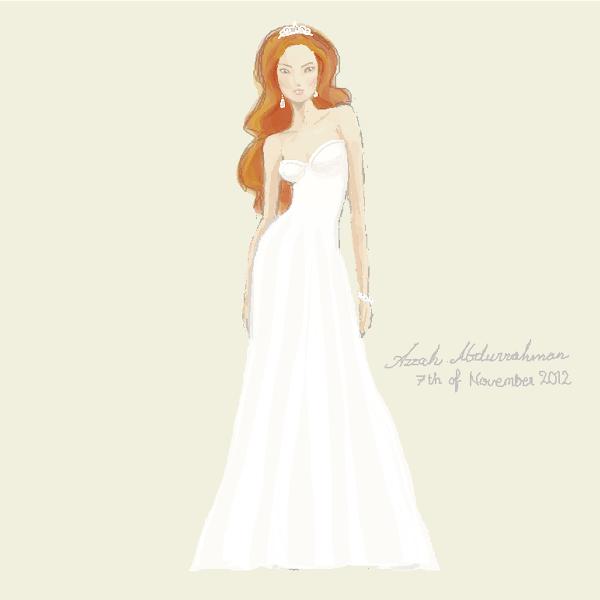 Wedding Dress Drawings SketchPort