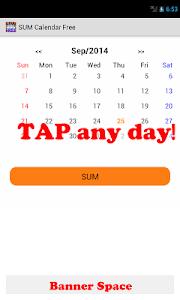 SUM Calendar Free screenshot 0
