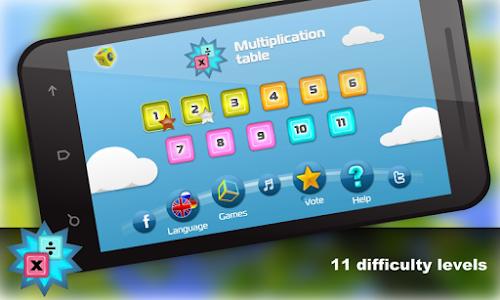 Math.Multiplication table Free screenshot 0