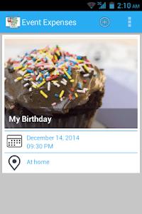 Event Expenses screenshot 0