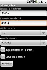 Einsatzrechner screenshot 0