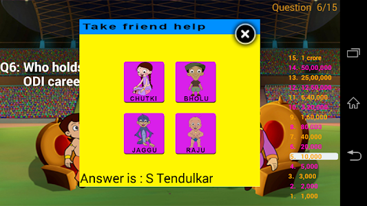 Cricket Quiz with Bheem screenshot 2