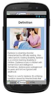 Dyslexia Disease & Symptoms screenshot 1