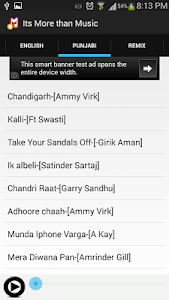 Hindi English Punjabi Songs screenshot 1