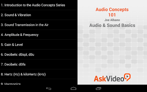 Audio and Sound Basics screenshot 1