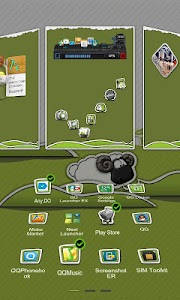 Next Launcher Theme P.Sheep screenshot 3