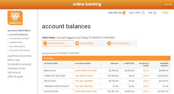 Bankwest Personal Banking