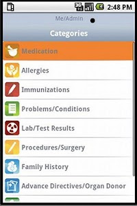 motionPHR Health Record Mngr screenshot 0