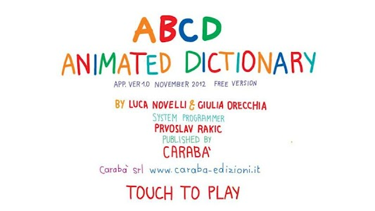 ABCD... Animated Dictionary screenshot 0