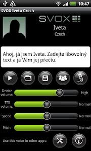SVOX Czech/Český Iveta Voice screenshot 0