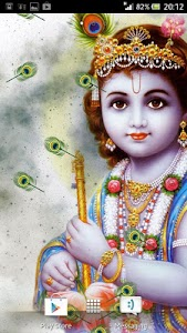 Lord Krishna Live Wallpaper screenshot 1