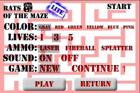 Rats of the Maze Lite screenshot 1