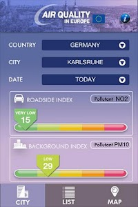 Air Quality in Europe screenshot 0