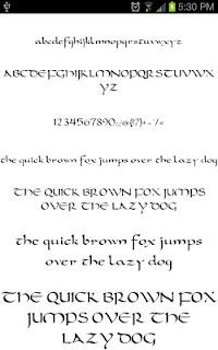 Goth Fonts for FlipFont free screenshot 05