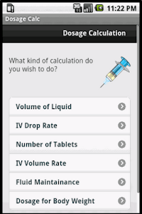 Dosage Calc screenshot 0