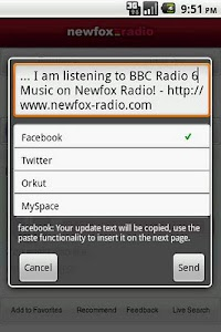 Newfox Radio screenshot 1