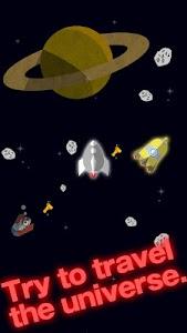 FLAT-galaxy- space travel game screenshot 0