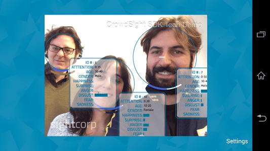 CrowdSight Face Analysis Demo screenshot 1