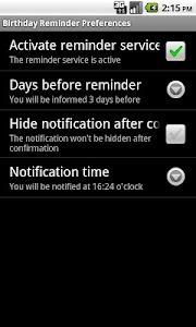 Birthday Reminder screenshot 1