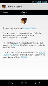 Crouton Demo Application screenshot 3