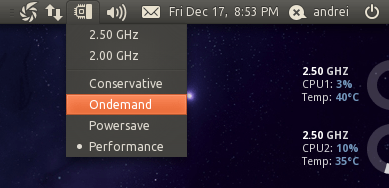 Indicator CPUfreq