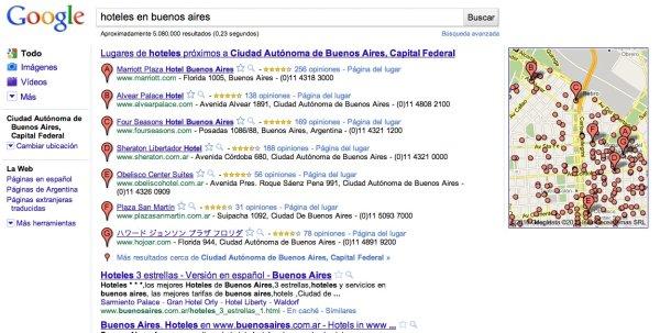 Google y los hoteles: sus propiedades primero