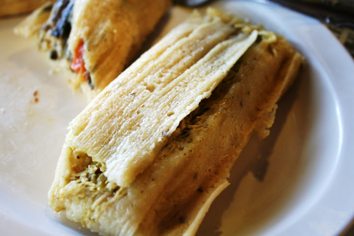Spinach & Cheese Tamale & Pollo Tamale