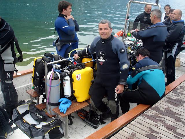 Avant le départ pour la plongée sur l'épave le France