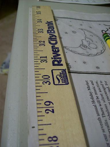 Mark the length of your skirt.