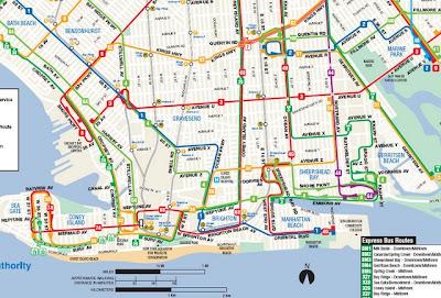 MTA Holds Public Hearing January BKLYNER - Brooklyn bus map