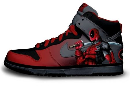 Gambar : Nike shoes design Deadpool