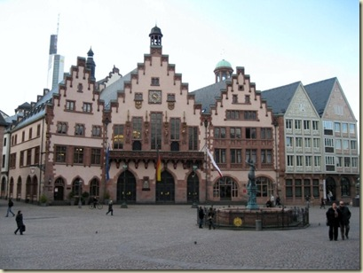 Building survived WWII on Romerburg Square Frankfurt Germany