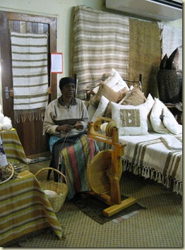 Woman spining silk Africa Silks Graskop Mpumalanga South Africa