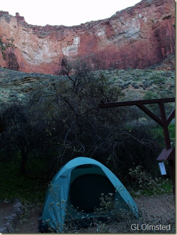 Camp at Indian Garden Grand Canyon National Park Arizona