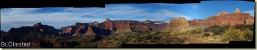 Panoramic view N & NW from Skeleton Point South Kaibab trail Grand Canyon National Park Arizona