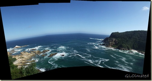 Indian Ocean & Western Head from Upper Eastern Head Knysna Garden Route Western Cape South Africa